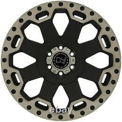 17 Black Rhino Warlord Alloy Wheels & Tyres Fits Vw Crafter & Mercedes Sprinter