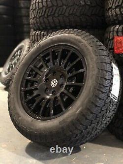 18 Rogue Raw Mercedes Sprinter Crafter 6x130 Gloss Black Camper