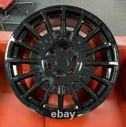 18 Tms Alloy Wheels Fit Volkswagen Crafter Mercedes Sprinter 6x130 Gloss Black
