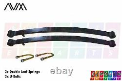 2x Rear double Leaf Springs for Mercedes Sprinter 2006-2018 with U-Bolts