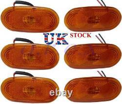 6x Amber Side Marker Lights LED Lamps for MERCEDES SPRINTER VW CRAFTER 4 LEDs