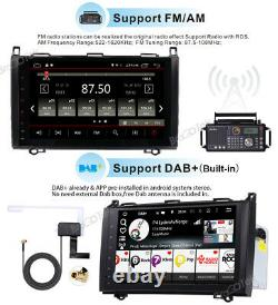 DAB+ Android10 Car Stereo Mercedes Benz A/B Class Sprinter Vito Viano VW Crafter
