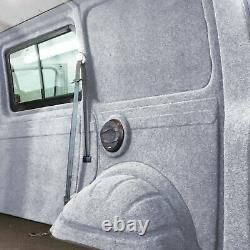 Innenverkleidung Verkleidung Filz Vlies Silber 10x2m passend für VW T6 T5 T4