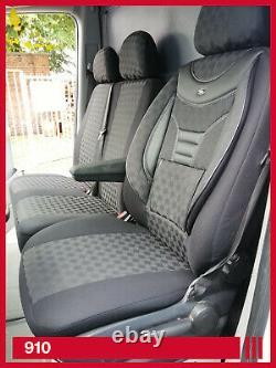 MAß Schonbezüge Sitzbezüge VW Crafter Mercedes Sprinter 1+2 Sitzer 910