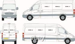 Mercedes Sprinter 07+ / Vw Crafter 07-17 Right Top Sliding Window In Privacy