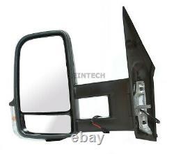 Mercedes Sprinter Full Door Wing Mirror Manual Black Long Arm NS Left 2006-2017
