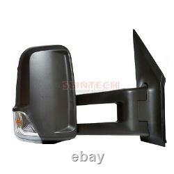 Mercedes Sprinter Full Door Wing Mirror Manual Black Long Arm OS RIGHT 2006-2017