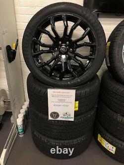 Mercedes Sprinter VW Crafter Wolfrace Wheels & TYRES 20 Evoke X Black Silver