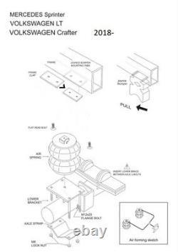 Mercedes Sprinter, Volkswagen Crafter, 2019-2020 Air suspension kit (NEWEST TECH.)