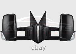 Mercedes Sprinter Wing Mirror Manual Complete Long Arm Set O/S N/S 2006 2018