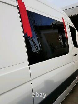 Mercedes Sprinter vw Crafter camper van motorhome 2 tinted side Windows fitted