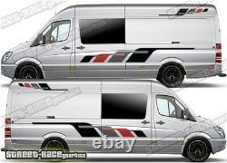 Motorhome Camper Race van 036 graphics sticker VW Crafter Mercedes Sprinter