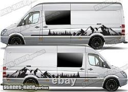 Motorhome Camper van 048 Mountain graphics stickers VW Crafter Mercedes Sprinter