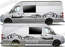 Motorhome Camper van 050 Mountain graphics stickers VW Crafter Mercedes Sprinter