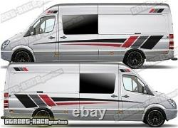 Motorhome Campervan 001 graphics stickers decals VW Crafter Mercedes Sprinter
