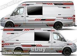 Motorhome Campervan 030 graphics stickers decals VW Crafter Mercedes Sprinter