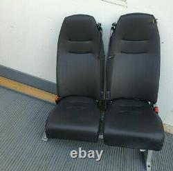 Original Leather Double Seats With Belts For Mercedes Sprinter W906 VW Van Bus