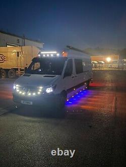 TO FIT MERCEDES SPRINTER LWB VW CRAFTER ONE PAIR SIDE LIGHT BAR LEDs