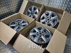 Team Dynamics Mercedes Sprinter VW Crafter 16 Alloy Wheels Anth Grey 6x130 84.1